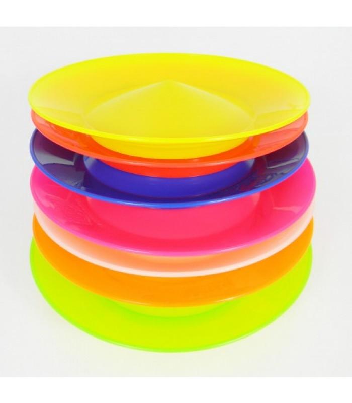 Keerlev taldrik + plastik pulk